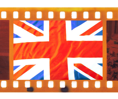 Vintage Old 35mm Frame Photo Film With UK, British Flag, Union ...