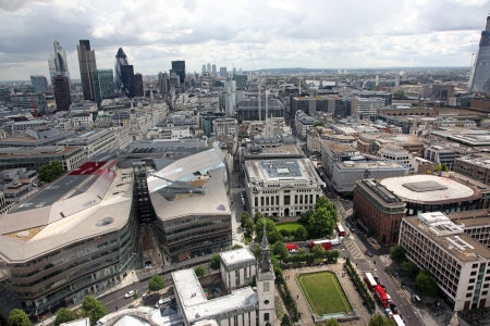 East of London from St Pauls Cathedral, UK photo