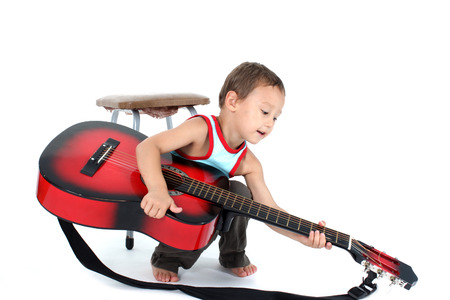 4 year old: young guitar player 4 year old