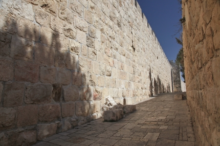 sephardi: Jerusalem old city wall at Zion Gate