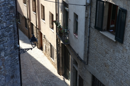 street in Girona. Catalonia. Spain photo