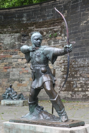 Statue Of Robin Hood at Nottingham Castle, Nottingham, UK photo