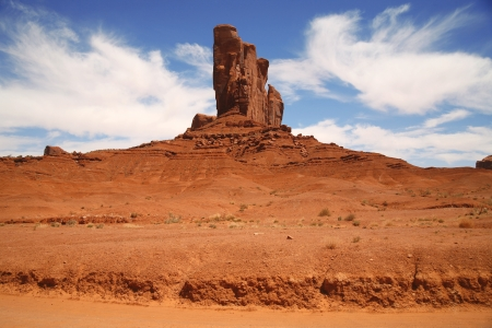 Monument Valley, desert canyon in Utah, USA photo