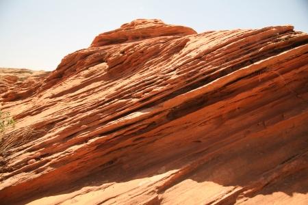 Rock formation at the Glen canyon, USA Stock Photo