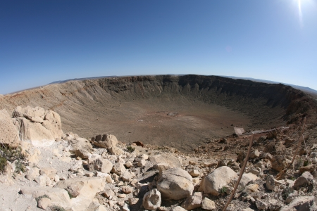 historical sites: meteor impact crater Winslow Arizona USA