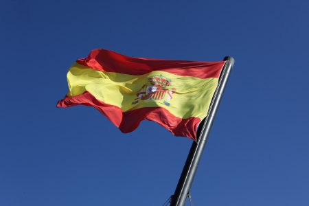 Flag of Spain, moving in the wind photo