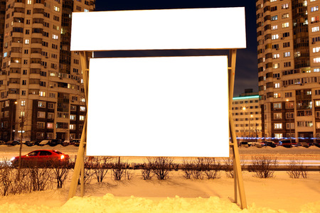 advertisers: For advertisers to place ad copy samples on a bus shelter in evening city