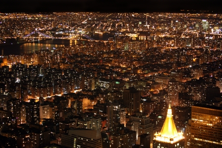 Night New York, Manhattan, USA photo
