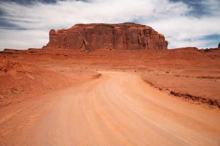 Famous Monument Valley, desert canyon in Utah, USA photo