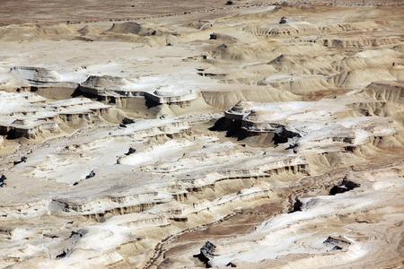 hebrews: Judaean Desert, overlooking the Dead Sea at ancient city Masada, Israel Stock Photo
