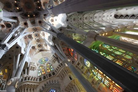 gaud: La Sagrada Familia, the unrealistic cathedral designed by Gaud in Barcelona Spain