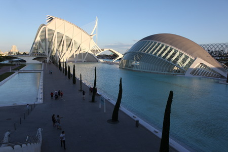 Valencia architectural complex City of Arts and Sciences Stock Photo - 28087354