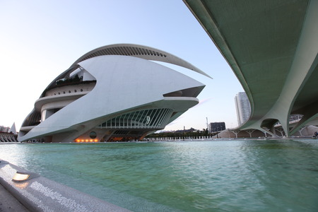 Valencia architectural complex City of Arts and Sciences (Ciudad de las Artes y las Ciencias), Spain Stock Photo - 28087368