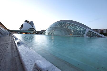 Valencia architectural complex City of Arts and Sciences (Ciudad de las Artes y las Ciencias), Spain Stock Photo - 28087372