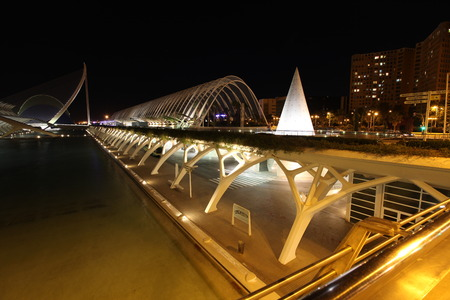 Valencia architectural complex City of Arts and Sciences (Ciudad de las Artes y las Ciencias), Spain Stock Photo - 28087382