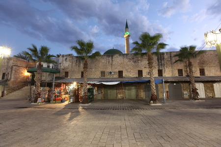 akko: Acre old city( also Akko ) at Mosque of Al-Jazzar in Western Galilee,  Israel