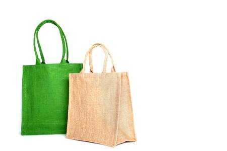 fabric bag: Shopping bag made out of recycled Hessian sack
