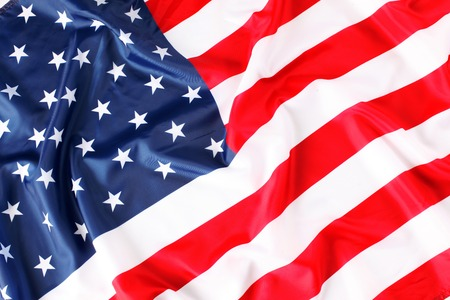 anthem: Close up of American flag Stock Photo