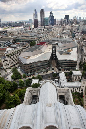 st paul s cathedral: London from St Pauls Cathedral, UK