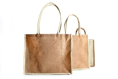 hessian bag: Shopping bag made out of recycled Hessian sack