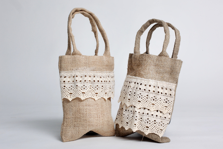 hessian: eco Shopping bag made out of recycled Hessian sack