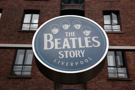 the beatles: LIVERPOOL, UK - JUNE 16: The Beatles Story, opened since May 1990 in Albert Dock, Liverpool, gives guests an exciting journey into the life, times, culture and music of the Beatles. June 16, 2011