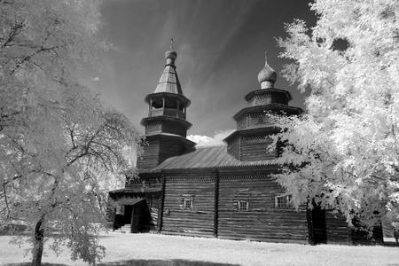 ortodox: The Old wood ortodox church at The  Great (Veliky) Novgorod, Russia