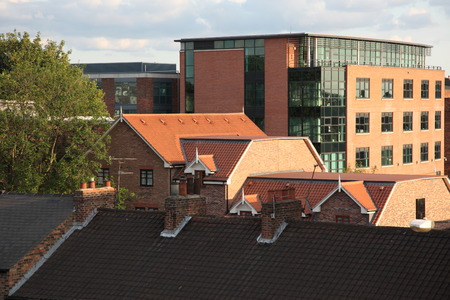 rooftops: The rooftops of the city of York, England, UK