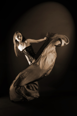 prowess: woman modern dancer Stock Photo