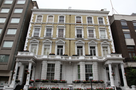 victorian house: Classic victorian house in London, Baker Street, UK Editorial