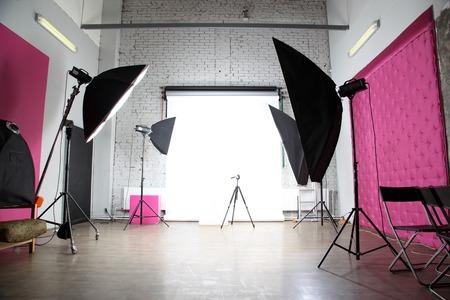 interno di un moderno studio fotografico Archivio Fotografico