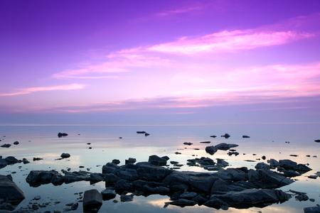 Rotskust, Meer Baikal, Rusland Stockfoto