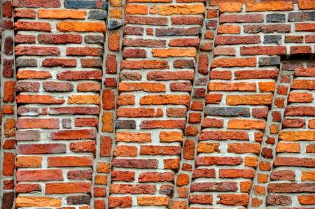 Vintage textured background of red brick wall Zdjęcie Seryjne