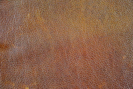 Close up of natural brown leather background Stock Photo