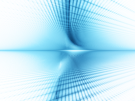 perspective grid: Abstract background element. Grid planes perspective. Retro sci fi style. Time and space concept. Blue and white colors.