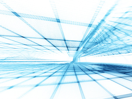 抽象的な背景の要素。波形、グリッドおよび梁の三次元組成物。エレクトロニクスとメディアのコンセプトです。青と白の色です。