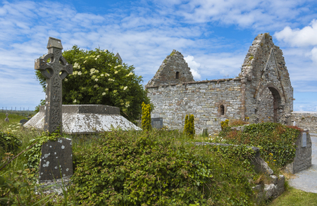 medeival: Ruins of church in Ireland Stock Photo