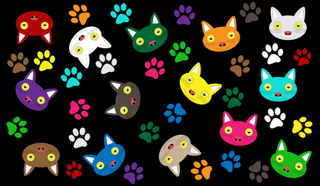 Kittens mixed colors for background and design