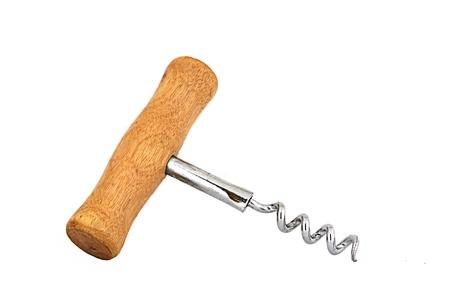 Corkscrew isolated on white. Imagens