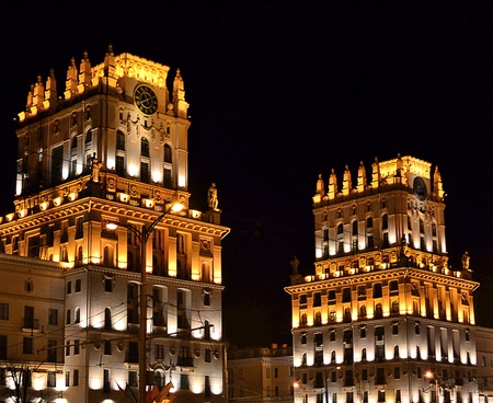 The photo of night view Minsk .  photo