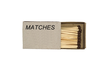 Match box isolated on a white background photo