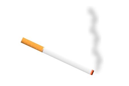 sigaretta: ?igarette con un fumo - illustrazione vettoriale