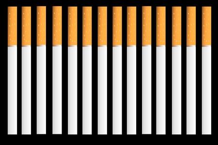 Сigarettes on black background  - vector illustration Stock Vector - 9777863