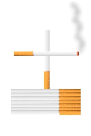 Stop smoking concept - danger of cigarettes - vector illustration Stock Vector - 9777866