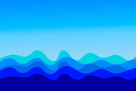 The vector image of sea waves Vector