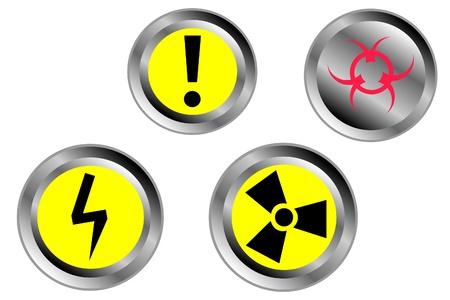 Warning signs set, vector  Stock Vector - 9777871