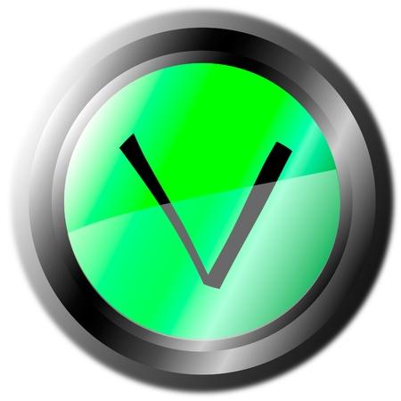 Validation button Stock Vector - 9777889