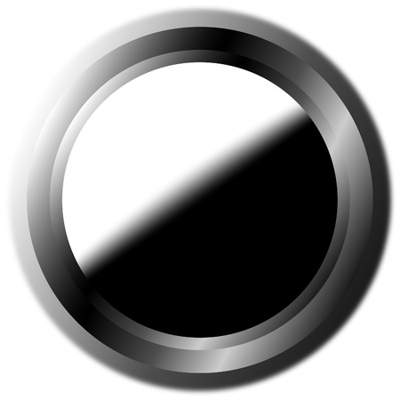 Black-white button. Vector illustration. Stock Vector - 9777893