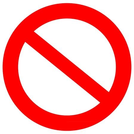 Niet toegestaan Sign