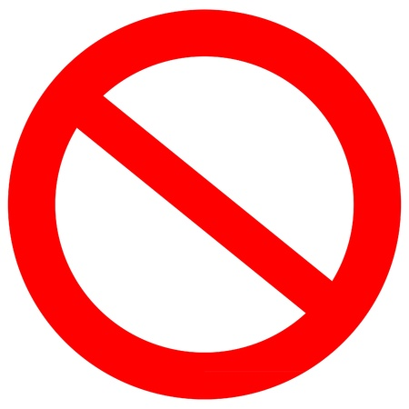 warn: Not Allowed Sign